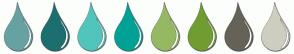 Color Scheme with #67A2A2 #1D6F6F #51C5BB #00A295 #95B962 #709D32 #666258 #CECEC0