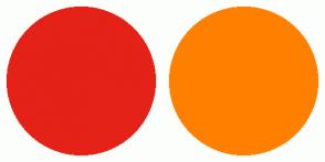 Color Scheme with #E42217 #FF8000