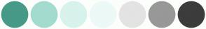 Color Scheme with #469A87 #A4DBCF #D8F2EC #ECF9F6 #E3E3E3 #989898 #3C3C3C