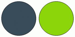 Color Scheme with #394C59 #8CD50B