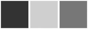 Color Scheme with #333333 #CFCFCF #777777