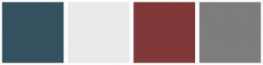 Color Scheme with #355261 #EAEAEA #803838 #7D7D7D