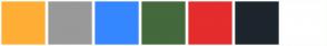 Color Scheme with #FFAE36 #999999 #3687FF #44693D #E52D2D #1D252D #FFFFFF