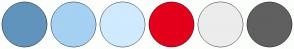 Color Scheme with #6194BC #A5D1F3 #D0EAFF #E4001B #ECECEC #606060