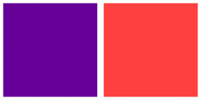 Color Scheme with #660099 #FF4040