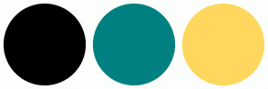 Color Scheme with #000000 #008080 #FFD75E
