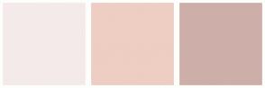 Color Scheme with #F4EAEA #EECDC3 #CEAEA8