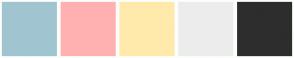 Color Scheme with #A0C5D0 #FFB1B1 #FFEAAC #ECECEC #2D2D2D