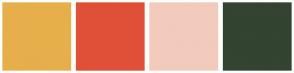 Color Scheme with #E6AF4B #E05038 #F2CBBC #334431
