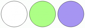 Color Scheme with #FFFFFF #ADFF86 #A695F2