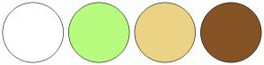 Color Scheme with #FFFFFF #B7FB7F #ECD285 #855325