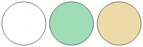 Color Scheme with #FFFFFF #9FDDB7 #EEDAA9