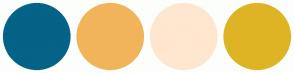 Color Scheme with #046386 #F2B45A #FFE6CF #DEB425