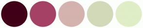 Color Scheme with #400118 #A64166 #D4B2AE #D2D9B8 #DFEEC6
