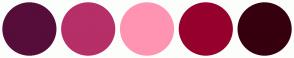 Color Scheme with #560D3A #B62F67 #FF94B2 #96002D #36000E