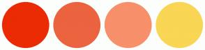 Color Scheme with #EB2B04 #EC633F #F7906B #F9D654