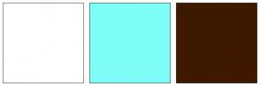 Color Scheme with #FFFFFF #7FFDF7 #3E1900
