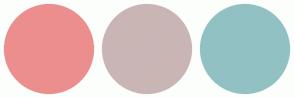 Color Scheme with #EC8E8E #CAB5B5 #92C1C3