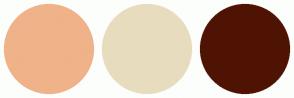 Color Scheme with #F0B289 #E8DCBE #4F1304