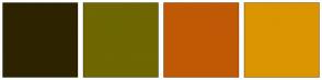 Color Scheme with #2E2300 #6E6702 #C05905 #DB9501
