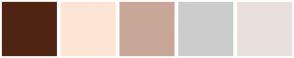 Color Scheme with #4F2412 #FDE5D5 #C9A798 #CCCCCC #E9E0DB