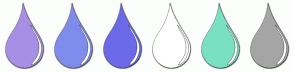 Color Scheme with #A78FE5 #7F8CEC #6C6AE8 #FFFFFF #79E1C1 #A5A5A5