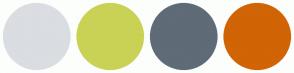 Color Scheme with #DADDE2 #C9D255 #5F6B77 #D16405