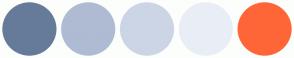 Color Scheme with #667B99 #AFBBD2 #CCD5E6 #E9EEF6 #FF6637