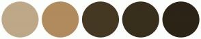Color Scheme with #BDA888 #B08B5D #453823 #382E1C #2C2416