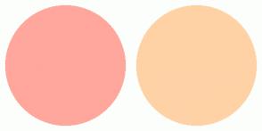 Color Scheme with #FFA79C #FFD2A6