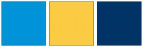 Color Scheme with #0193DA #FBCB43 #003366