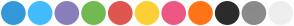 Color Scheme with #3498DB #44BBFF #897FBA #71BA51 #DF554F #FCD036 #ED5784 #FF7416 #2C2C2C #8A8A8A #EEEEEE
