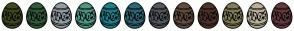 Color Scheme with #3D4A1F #305C39 #919CA3 #4E9684 #1D7F8A #2E6775 #52595E #614E3F #4F3429 #827E58 #BAB097 #63393B