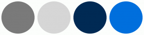 Color Scheme with #7A7A7A #D6D6D6 #002A54 #006FDD