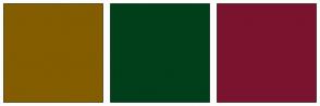 Color Scheme with #835D00 #003F1A #7A132E