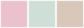 Color Scheme with #EBC1CD #D0DFD7 #D9C7BA