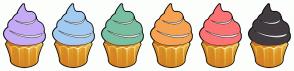Color Scheme with #C5AAF5 #A3CBF1 #79BFA1 #F5A352 #FB7374 #423C40