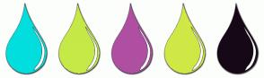 Color Scheme with #02DEDE #C5E946 #AF4FA2 #D0E846 #160817