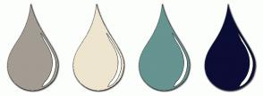 Color Scheme with #A39C92 #EEE5CF #669490 #0C0D34