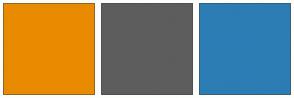 Color Scheme with #E98B00 #5D5D5D #2C7DB4