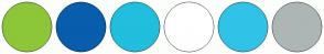 Color Scheme with #8CC739 #085DAD #21BEDE #FFFFFF #31C3E7 #ADB6B5