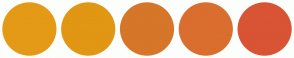 Color Scheme with #E49A16 #E19713 #D67629 #DA6E2E #D85434