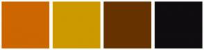 Color Scheme with #CC6600 #CC9900 #663300 #0F0D0F