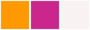 Color Scheme with #FF9900 #CA278C #F9F2F2