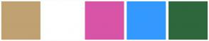 Color Scheme with #C0A172 #FFFFFF #D854A6 #3399FF #2E673C