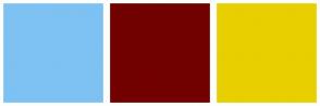 Color Scheme with #7DC2F2 #720000 #E8CF00