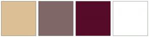 Color Scheme with #DDBF96 #806767 #560B29 #FFFFFF