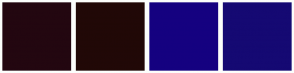 Color Scheme with #230710 #210807 #150180 #150973