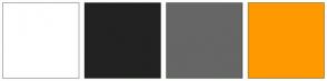 Color Scheme with #FFFFFF #222222 #666666 #FF9900