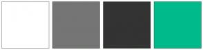Color Scheme with #FFFFFF #757575 #333333 #00BA8C